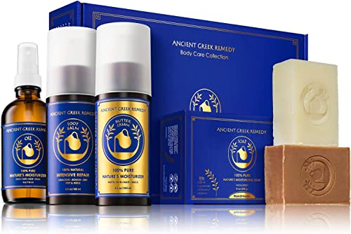 Ancient Greek Remedy Organic Spa Skin Care Gift Set, Perfect for Moms, Pregnancy, Daily Bath and Shower, Face and Bod...
