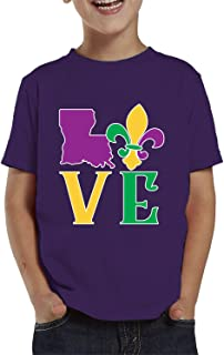 SpiritForged Apparel Love Louisiana Mardi Gras Toddler T-Shirt