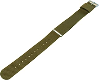 22mm Army Green Long - BARTON Watch Bands - Ballistic Nylon NATO Style Straps