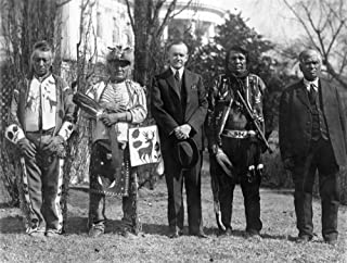 Calvin Coolidge with Osage Indians写真 36 x 54 Giclee Print LANT-4647-36x54