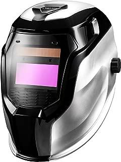 DEKOPRO Welding Helmet Solar Powered Auto Darkening Hood with Adjustable Shade Range 4/9-13 for Mig Tig Arc Welder Mask (Silver)