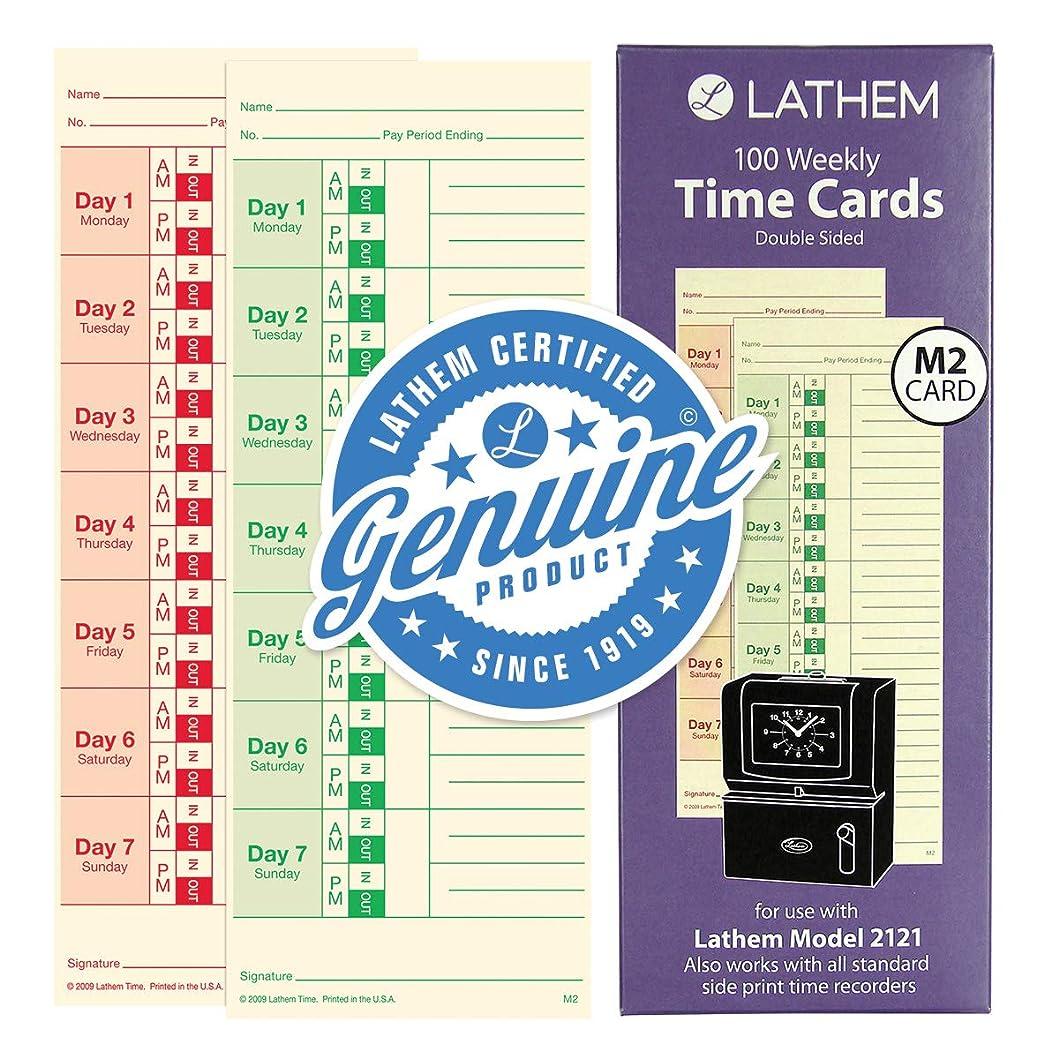 イベント学期全くLathem Weekly時間カード、両面、for Lathemモデル2121?/ side-print時間時計、100パック(m2?–?100?)