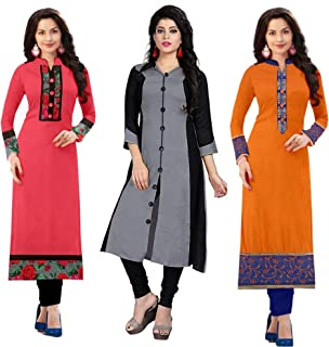 5ca7159bd1b Amazon.in: Cotton - Dress Material / Ethnic Wear: Clothing & Accessories