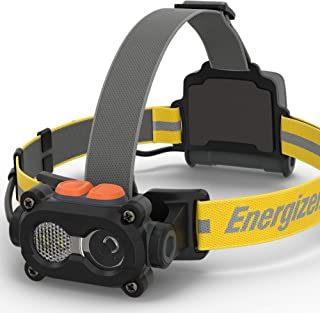 Energizer HARD CASE LED Headlamp Flashlight, High Lumens, IPX4 Water Resistant, Impact Resistant, For Camping, Hiking, Con...
