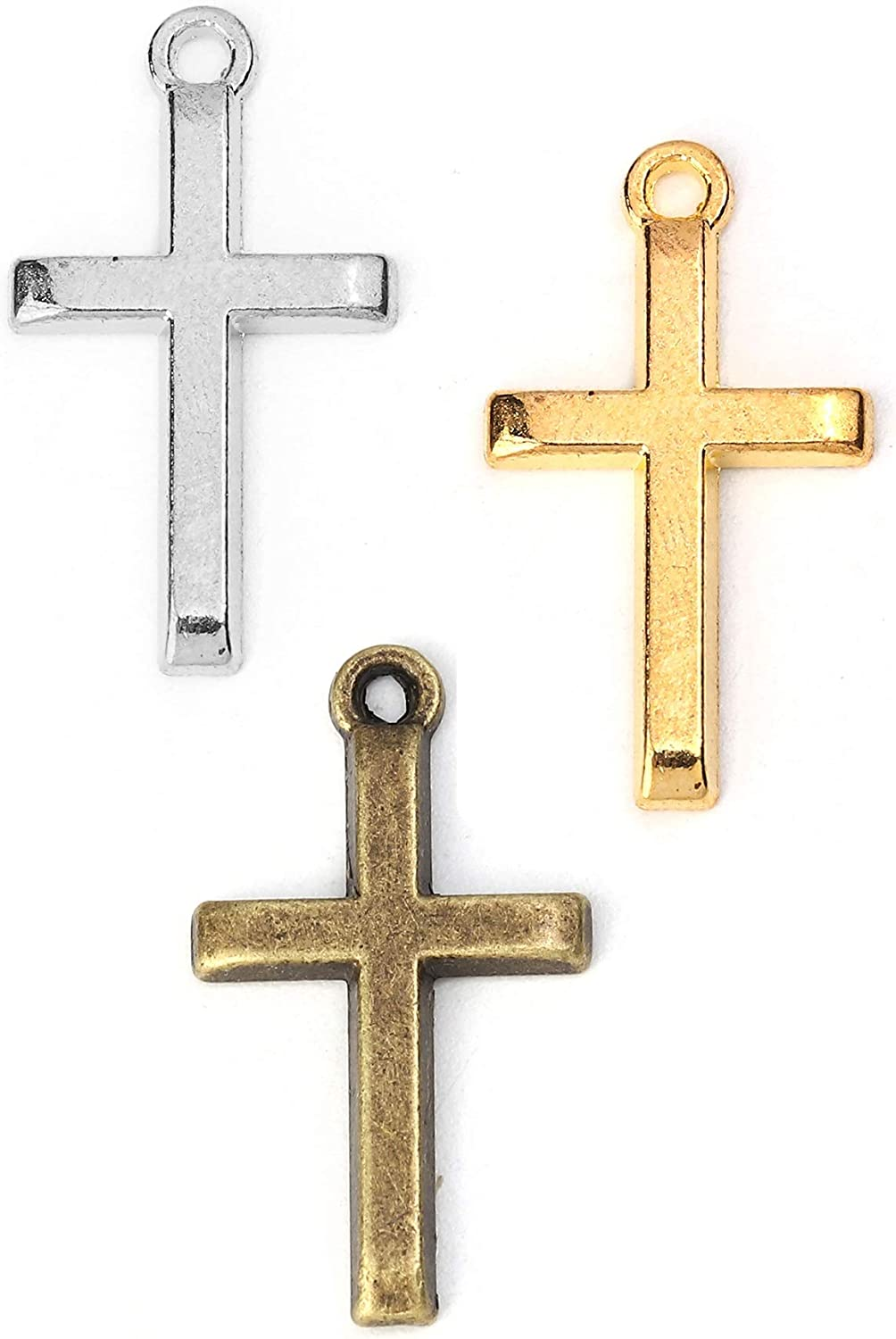 JGFinds Cross Crucifix Charm Pendants Max 90% OFF - 50 Pack of 70% OFF Outlet each 150 1