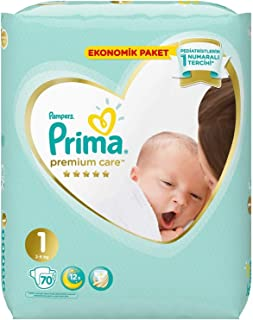 Prima Bebek Bezi Premium Care, 1 Beden, 70 Adet, Yenidoğan Jumbo Paket