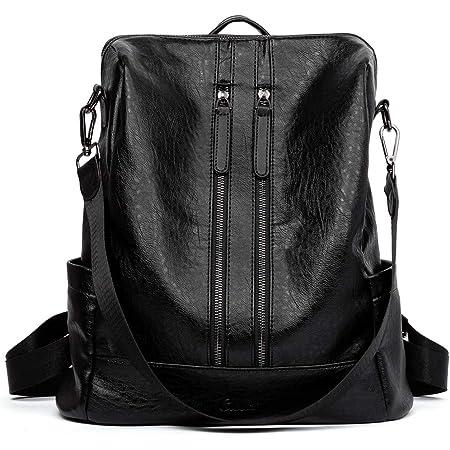 CLUCI Rucksack Damen Leder Mode Schultertasche Elegant Große Reiserucksack Leichter Tasche für Frauen 2 in 1