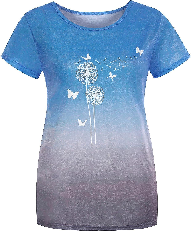 Yuege Women's Fashion Casual Flower Print V-Neck Sleeveless Short Open Back Vest Summer Tee Collar Vest Blue