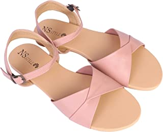 NS Style Women's Black Flat Sandal