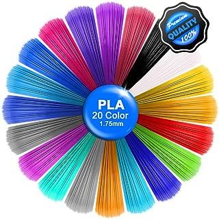 3D Pen PLA Filament Refills -3D Drawing Printing Printer Pen Bonus 20 Colors 5M/16 Feet Each Color,Total 328 Feet,1.75mm PLA Filament for Kids Adults Arts Crafts Model DIY, Non-Clogging