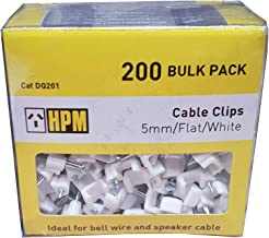 HPM DQ201 5mm White Cable Clips Accessory - Cable clips Flat type Pack of 200 5mm white