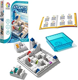 SmartGames Atlantis Escape; a 3D Path-Building Travel Game for Kids and Adults, a STEM Focused Cognitive Skill-Building Br...