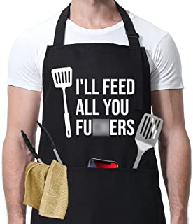 I'll Feed All You - Funny Aprons for Men, Women with 3 Pockets - Dad Gifts, Gifts for Men - Birthday Gifts for Dad, Husban...