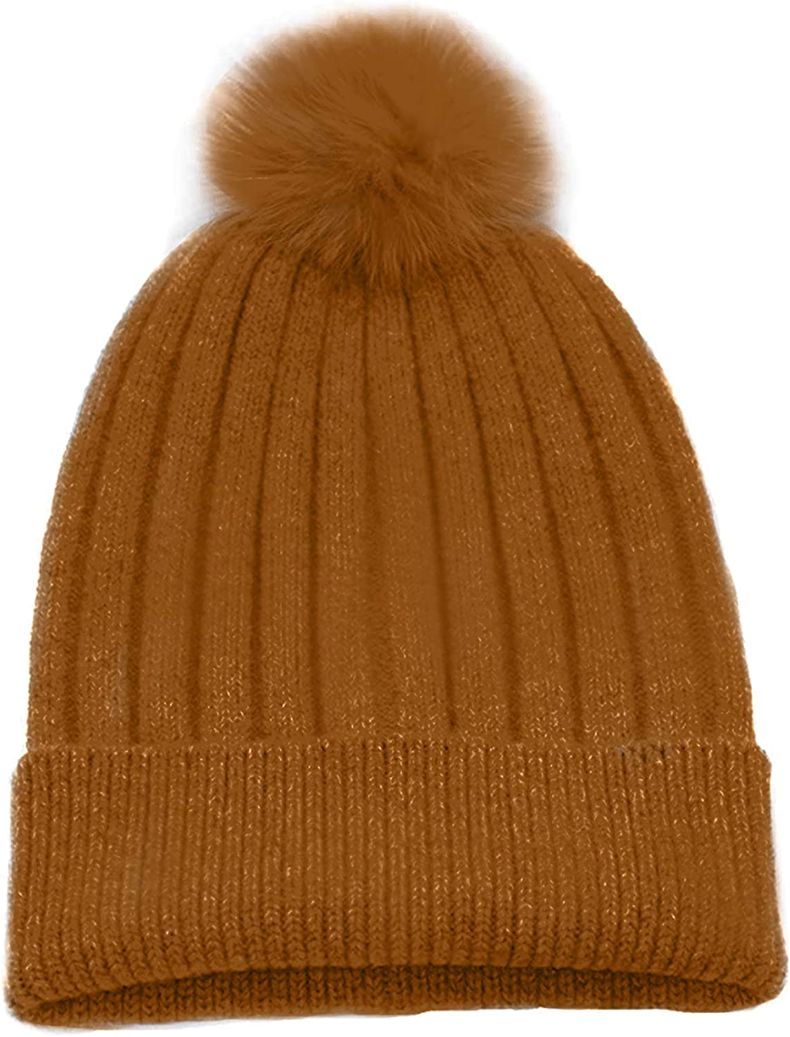 Max 55% OFF State Cashmere Cheap mail order shopping Rabbit Fur Removable Pom-Pom Cashme Hat Pure 100%