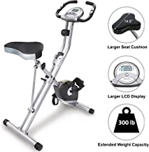 Exerpeutic Folding Magnetic Upright Exercise Bike with Pulse (Renewed)