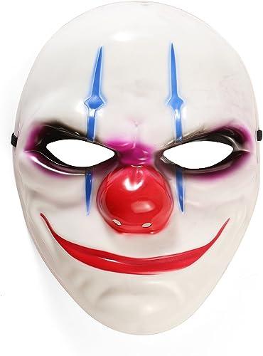 para mayoristas Komonee Payaso Adulto Adulto Adulto blanco Disfraz máscara de Halloween (Pack of 25) (HM21)  promociones de equipo