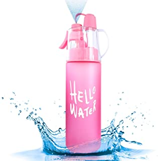 Sunfuny Mist Spray Sports Drinking Water Bottle,Misting Cup for Running Cycling Fitness Hiking Outdoor,Perfect Gift