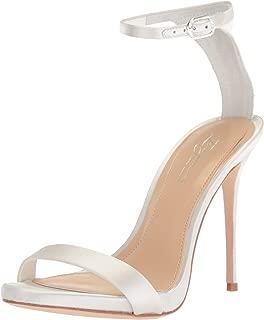 Imagine Vince Camuto Women's Dacia Heeled Sandal, Pure White, 9.5 Medium US