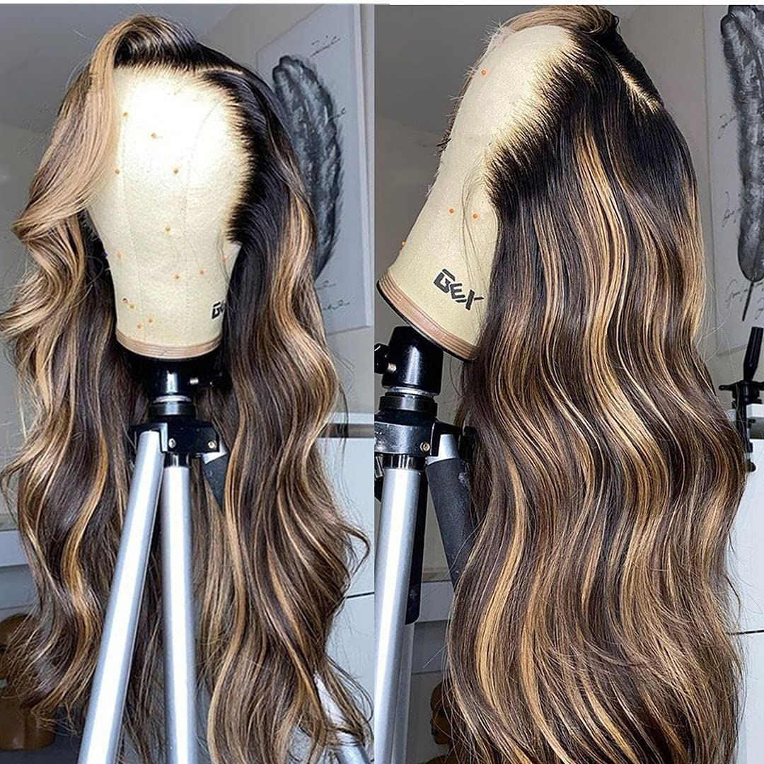 BEEOS 4 27 Highlight 13x6 Lace Human Loose Front Max 53% OFF Hair Wigs Wave Indianapolis Mall