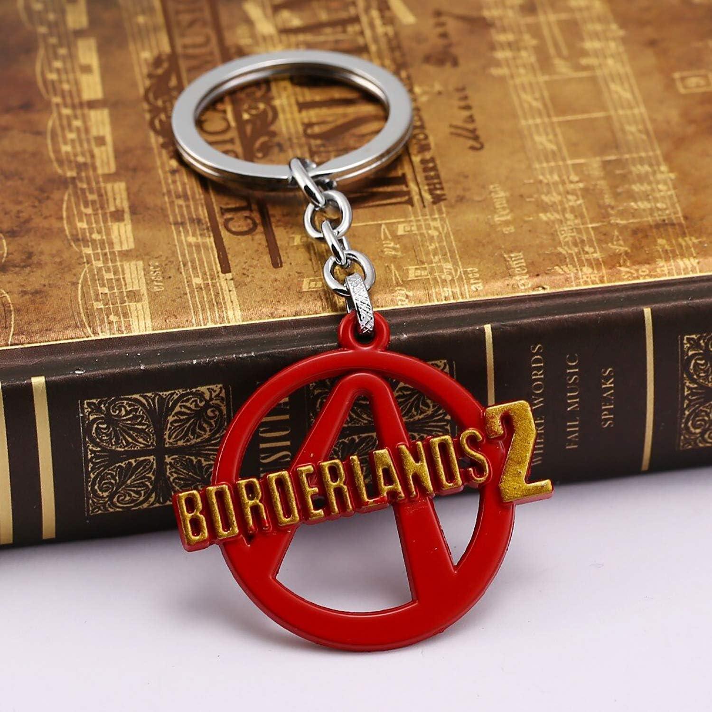 Game Borderlands 2 Logo Keychain Pendant Keyring Holder Bag Car Key Cosplay Decoration Gift For Fans MLEY973