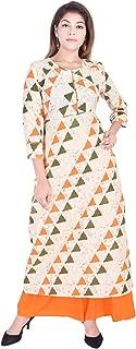 Jaipur Kala Kendra Women's Rayon A-Line Printed Kurti With Palazzo