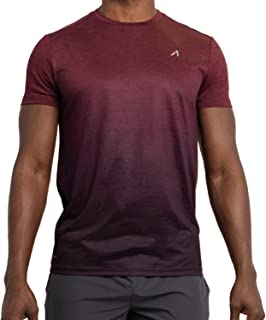 Alive Men's Tee Shirt V Neck Quick Dry Active Performance Short Sleeve Shirt