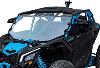 SuperATV Heavy Duty Scratch Resistant Full Windshield for Can-Am Maverick X3 900 / Turbo/X RC/X RS/X DS/X MR/MAX (2017+) - For Use With Intrusion Bar