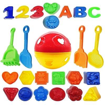 PETUOL Beach Sand Toys Set Models, 25 Packs Bea...