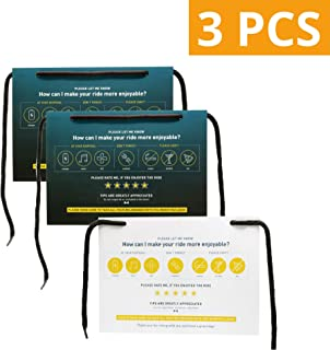 Crafts To Collect Uber Lyft Rating Sign, Customized Rating Tip Hang Tag for Car (3 Pack)