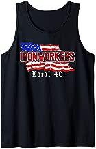 Ironworkers Local 40 NYC American Flag Patriotic  Tank Top
