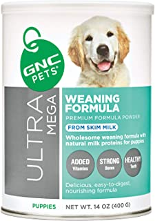 GNC Pets Ultra Mega Weaning Formula Powder for Puppies, 14 Ounces | Puppy Formula Made with Natural Milk Proteins, Support...