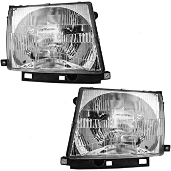 Aftermarket Left and Right Pair Head Lights for Tacoma 1997-2000 81150-04090 81110-04090 TO2502120 TO2503120