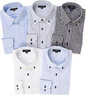 [タカキュー] ワイシャツ 形態安定 抗菌防臭 スリムフィット 長袖シャツ 5枚セット 【WEB限定販売】 メンズ
