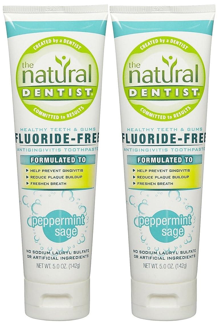 有害な臭いポインタThe Natural Dentist Healthy Teeth & Gums Fluoride-Free Toothpaste - 5 oz - Peppermint Sage - 2 pk by Natural Dentist