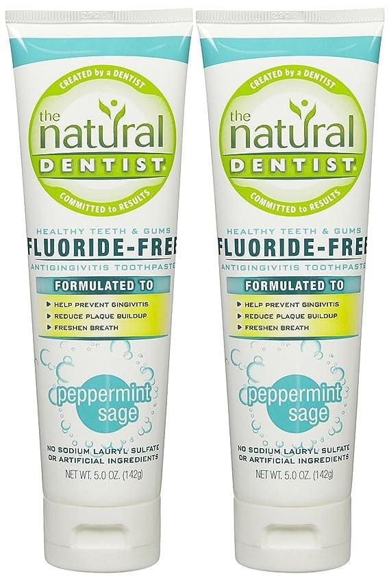 奇妙な妻フックThe Natural Dentist Healthy Teeth & Gums Fluoride-Free Toothpaste - 5 oz - Peppermint Sage - 2 pk by Natural Dentist