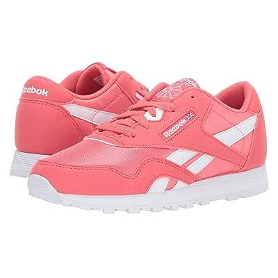 Reebok Kids Classic Nylon MU (Little Kid) (Bright Rose/White) Girls Shoes
