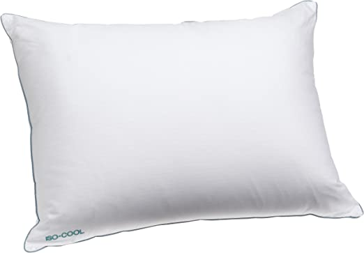 Amazon Com Isotonic Iso Cool Traditional Polyester Pillow With Outlast Cover Standard Home Kitchen