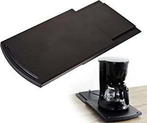 KLEVERISE Kitchen Caddy Sliding Coffee Maker Tray Mat - Countertop Storage for Stand Mixers/Air Fryers/Cabinet Coffee Machine/Blender/Toaster - 12