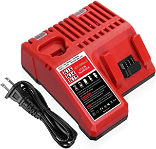 Advtronics 48-59-1812 Replacement Charger Compatible with Milwaukee 12V-18V M12 M14 M18 Lithium Battery 48-11-2420 48-11-2440 48-11-1820 48-11-1840 48-11-1850 48-11-2401 48-11-1890