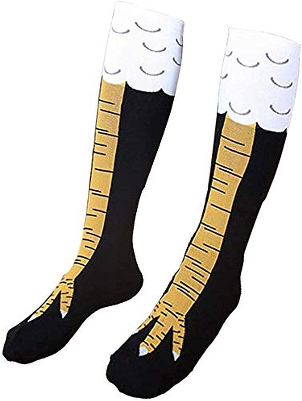 Chaussettes hautes en coton pour femme//fille Motif pattes de poulet