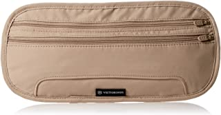 Victorinox Deluxe Concealed Security Belt with RFID Protection, Nude/Black Logo (Off-White) - 311718