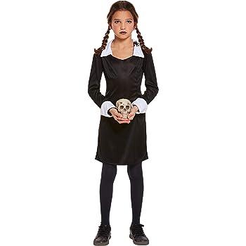 Ciao - Disfraz de Miércoles Addams Family, 8-10 años, niña, negro ...
