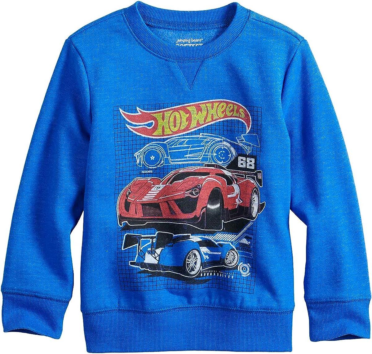 Infant Boys Jumping Beans Hot Wheels Sweatshirt, Blue (Infant, 3_months)