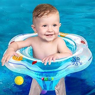 Anillo de Natación para Bebé, Bebes Swim Ring Flotador de Natación Inflable de la Piscina del Bebé con Asiento Inflable Piscina Flotador para 3-48 Meses Bebé Niños Piscina Flotador Natación Juguete