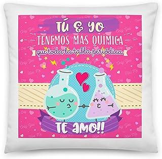 Kembilove Cojines para Parejas – Cojín para el sofá con Colores únicos y Mensaje Tú y yo Tenemos mas Química, Te Amo – Coj...