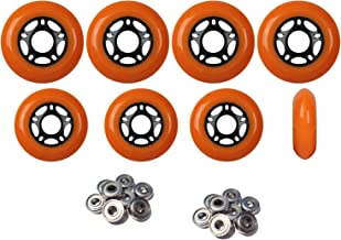 Player's Choice Outdoor Inline Skate Wheels 76mm/80mm ORN Hilo Roller Blade Hockey ABEC 9 Bearings