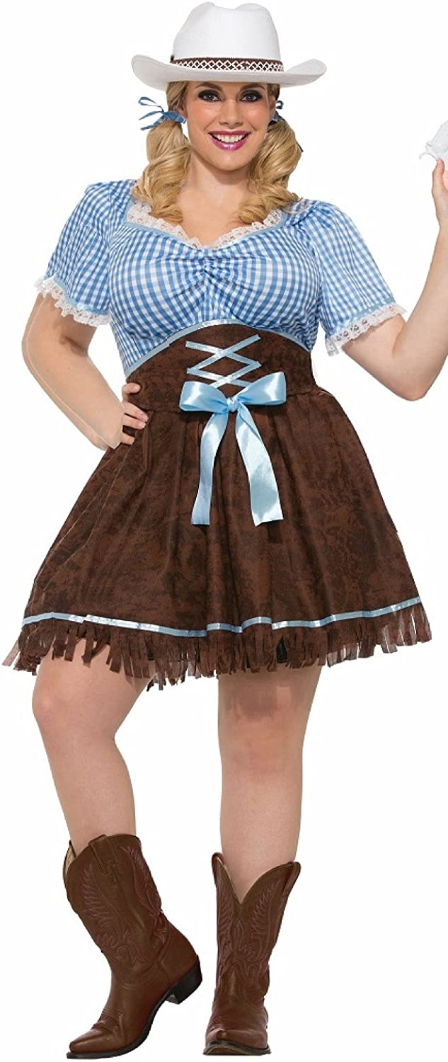 Forum Women's Plus Size Cowgirl Costume