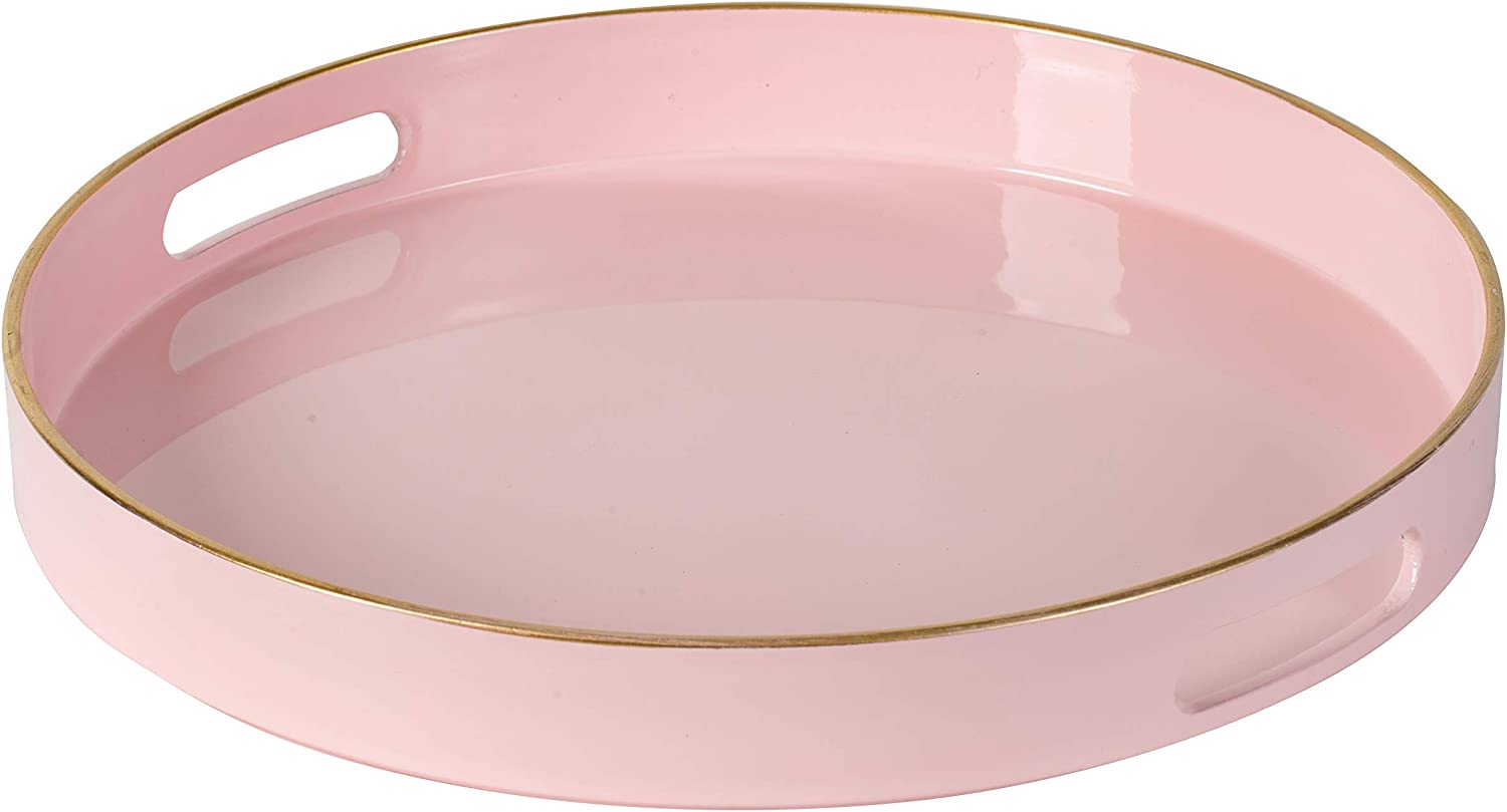 R 16 Home 44768 New Shipping Free Shipping Tray Large-scale sale Pink 13x1.7x13 Decorative