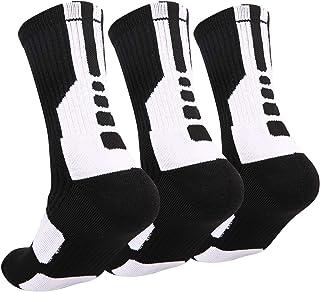 Disile Elite Basketball Socks, Cushioned Athletic Sports Crew Socks for Men & Women