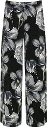 Femmes Plus Floral Imprimer Palazzo Pantalon Lades